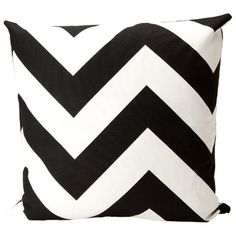 Chevron Black and White Pillow