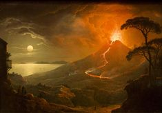 The Eruption of Vesuvius by Abraham Pether 1825