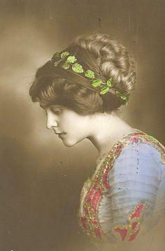 Edwardian hair - glorious, glorious photo.  My grandmother had hair like this.