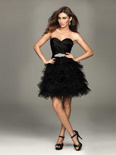 Black-Cocktail-Dresses-Strapless-