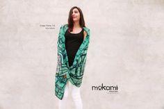 PRE COLUMBIAN 70 X 35 #women #shawl // 100% #silk - #crepedechina14 // #giftsforher // #shopping #design #scarf by #mokami on #Etsy #peoplemakeetsy #BestEstyPhoto