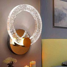 JRMJ Bunte WL-Kristall Wand Lampe Hohe Helligkeit Einfache moderne kreative Persönlichkeit Gang Wand Lampe führte Wohnzimmer Wand Lampe in zwei Größen ( Size : Diameter: 15 cm ): Amazon.de: Beleuchtung