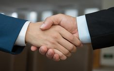 Download wallpapers handshake, business concepts, 4k, conclusion of a deal, business people
