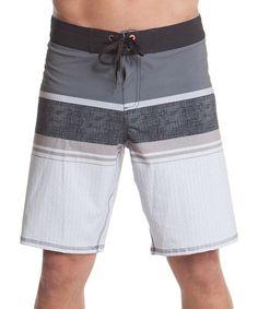 Love this Black Stripe Swim Trunks - Men's Regular on #zulily! #zulilyfinds