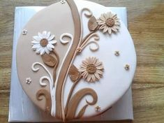 Easy Cake Decorating Themes And Ideas Cake Icing Tips, Fondant Cakes, Cupcake Cakes, Cupcakes, Gorgeous Cakes, Pretty Cakes, Amazing Cakes, Wedding Cake Pearls, Patterned Cake