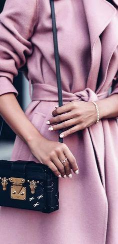 Lilac coat.
