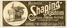 Original-Werbung/ Anzeige 1912 - SHAPING - MASCHINEN / HÄNDEL & REIBISCH DRESDEN - ca. 150 x 55 mm