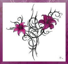 FLOWER TATTOOS | Tribal flower tattoo by ~C4ym4n on deviantART