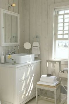 I love the simple beauty of this bathroom. Especially that sink.