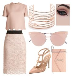 """Untitled #328"" by denis-bogdan-siminiuc on Polyvore featuring Dolce&Gabbana, Valentino, Yves Saint Laurent, So.Ya, Alexis Bittar and Concrete Minerals"