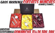 CHEZ LE GROSSISTE BIJOUX OUVERT À TOUS DE MURET AUX PORTES DE TOULOUSE, 2 MAGASINS OUVERTS CE DIMANCHE, 7/7 JUSQU'À NOËL !!! ->COFFRETS MONTRES HOMMES sur http://www.grossiste-toulouse.com/fr/coffret-montre/4112-coffret-montre-dame.html