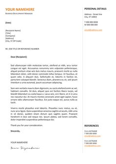 gastown2 free professional cover letter template orange - Resume Cover Letter Template Free