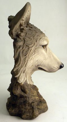 wolf head sculptures - Google Search