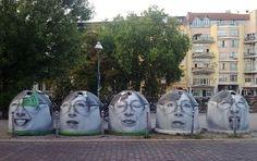 The expressive faces of street artist Mentalgassi. In Berlin. Cultura Inquieta