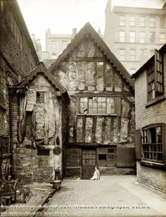 I learned recently that some wealthier Victorians went on tours of the slums and insane asylums as family outtings Red Lion Street area, Kirk's Yard, Nottingham, London History, British History, Old Pictures, Old Photos, Victorian London, Vintage London, Old Photography, Old Street, Old London