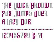 Typeface made for Philp Sydney, by VormVijf