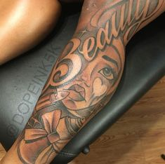 All Tatoo Gallety Sexy Tattoos, Dope Tattoos For Women, Black Girls With Tattoos, Leg Tattoos Women, Badass Tattoos, Pretty Tattoos, Body Art Tattoos, Hand Tattoos, Sleeve Tattoos