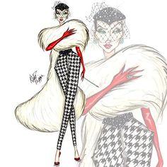 Disney Villain Fashionistas: Cruella de Vil by Alex Phippen