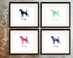 Beagle Dog  Watercolor Collection  Digital Download by TriPodDog
