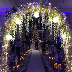 Outdoor Night Wedding, Outdoor Wedding Decorations, Wedding Ceremony Decorations, Wedding Night, Fall Wedding, Dream Wedding, Winter Wedding Venue, Winter Themed Wedding, Beautiful Wedding Venues
