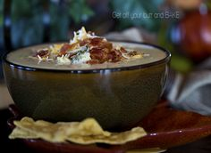 Broccoli, Bacon and Cheddar Chowder- could also change it up and add in potatoes, take out the broccoli, etc.... a good chowder base!