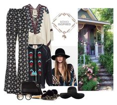 """""""Boho Inspired"""" by katiethomas-2 ❤ liked on Polyvore featuring Issa, Figue, 3.1 Phillip Lim, Prada and Eugenia Kim"""