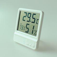 Nueva Pantalla LCD Digital despertador Termómetro Higrómetro de interior Temperatura Humedad Medidor de 14 ~ 158F Estación Meteorológica Termometro