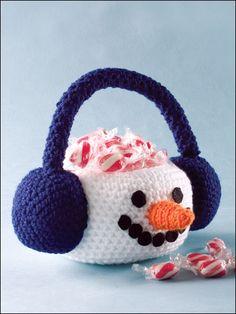Crochet - Winter - Snowman Basket
