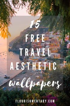 Use These Stunning Travel Aesthetic Wallpapers To Feed Your Wanderlust! European Travel Tips, Italy Travel Tips, European Vacation, Free Travel, Vacation Spots, Vacation Ideas, Southern Italy, Travel Aesthetic, Aesthetic Wallpapers