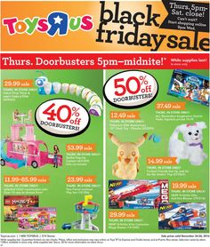 ToysRUs 2016 Black Friday Ad Preview