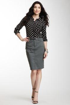 NYDJ Cargo Chino Skirt