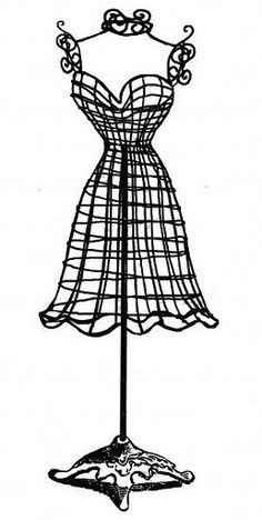 Free Vintage Clip Art - Dress Forms and Sewing Machines | Form 4 ...