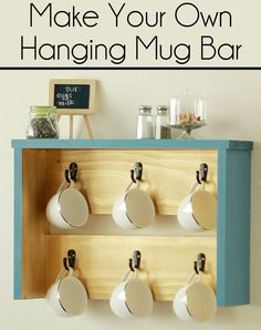How to make your own mug bar for a #NiftyKitchen