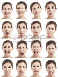 Gesichtsausdruck Lizenzfreie Vektorgrafiken Kaufen: 123RF