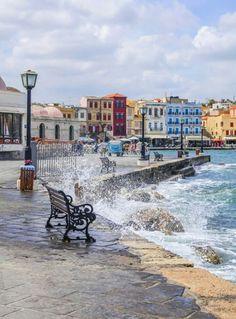 Greece Travel Inspiration - Port of Chania, Crete Crete Island, Greece Islands, Oh The Places You'll Go, Places To Travel, Places To Visit, Travel Destinations, Beautiful Islands, Beautiful Places, Belle France