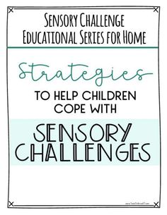 Free pediatric Occupational Therapy resources, worksheets, infomation and educational material. Sensory System, Pediatric Occupational Therapy, Sensory Diet, Kids Mental Health, Sensory Integration, Mental Health Conditions, Self Regulation, Sensory Processing Disorder, Brain Breaks
