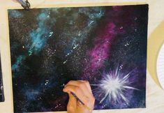 Galaxy Painting - Step By Step Acrylic Painting Tutorial - susan mcclellan - Galaxy Painting - Step By Step Acrylic Painting Tutorial How To Paint A Galaxy - Step By Step Painting For Beginners - Galaxy Painting Acrylic, Acrylic Painting Lessons, Acrylic Painting Tutorials, Large Painting, Diy Painting, Galaxy Flowers, Nausicaa, Galaxy Drawings, Step By Step Painting