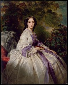 "1859 - ""Portrait of Countess Maria Ivanovna Lamsdorf"", (née Maria Ivanovna Beck, 1835–1866) by Franz Xaver Winterhalter (German, Menzenschwand 1805–1873 Frankfurt)."