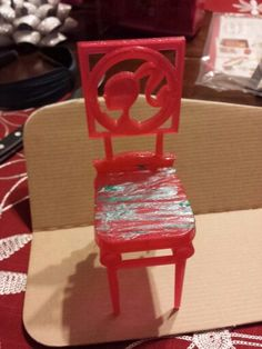 Old barbie doll  chair before