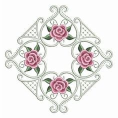 Pearl Roses Quilt 2 - 3 Sizes! | Quilt | Machine Embroidery Designs | SWAKembroidery.com Ace Points Embroidery - Google Search