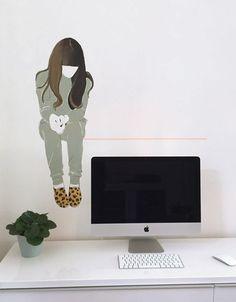 Geef je werkplek kleur! Muurschildering door Atelier 15