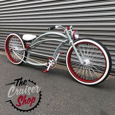 Velo Beach Cruiser, Cruiser Bicycle, Motorized Bicycle, Beach Cruisers, Custom Beach Cruiser, Recycled Bike Parts, Lowrider Bicycle, Bicycle Painting, Bicycle Drawing