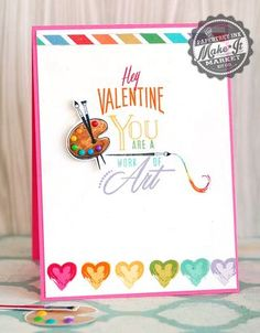 Rainbow Valentine Card by Betsy Veldman for Papertrey Ink (December 2014)