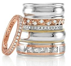 Latest wedding band styles from Stuller Inc.