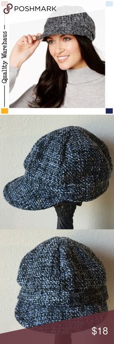 1fdc073380d14 I just added this listing on Poshmark  NEW NINE WEST Metallic Boucle  Newsboy Cap Black