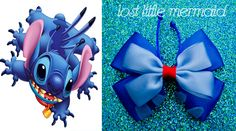 Experiment 626 / Stitch Hair Bow by LostLittleMermaid on Etsy