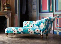 Harlequin Fabrics: Collection: Impasto, Giverny 120144, Colour:- Lagoon/Amber See more at: http://www.harlequin.uk.com