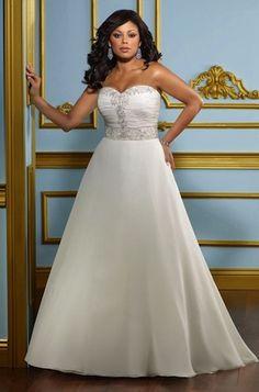 "Robe de mariée ""Easy"" collection ""Jolies Formes"" http://www.robe-discount.com/achat-robe-de-mariee-bustier-easy--387474.html Wedding dress plus size bridal dresses"