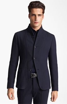 Armani Collezioni Piqué Jersey Jacket available at #Nordstrom