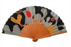 Hand Fans, Diy Jewelry, Jewelry Accessories, Abs, Color, Tattoos, House, Painted Silk, Painted Fan